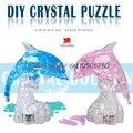 Flash golfinho brinquedos brinquedos e presentes 6--15 anos de quebra-cabeça 3D DIY tridimensional cristal início mobiliário jóias