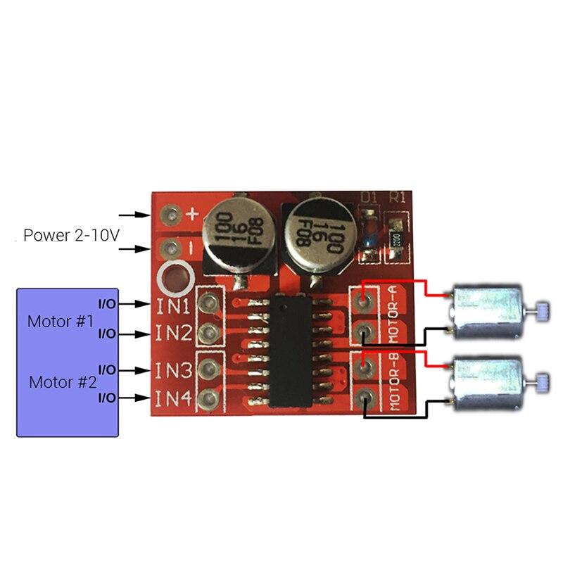 1 PC Mini Module PWM Speed Control Beyond L298N Dual Channel DC Motor Driver mini dual 2 channel 2 5a dc motor driver module beyond l298n pwm speed control