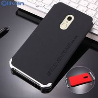 Ollivan Case For Xiaomi Redmi Note 4x Case Aluminum Metal Frame Hard PC Back Cover Redmi