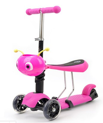 Children's scooter can sit three rounds of baby walkers
