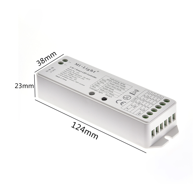 US $11 58 30% OFF|5 In 1 Milight LED Controller 12V 24V DC Power Supply LS2  LED RGB Controller For LED Strip Light Wireless 2 4G Wireless Control-in