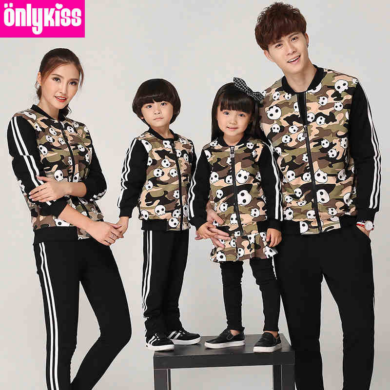 Matching Family Clothing Sport Sets 2015 Autumn Winter Family Look Matching Mother Daughter Father Son Long Sleeve Sweater Set купить