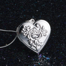 Romantic Rope Snake 18inch Silver Picture Frame Charm Heart Locket Photo Pendant Necklace For Women Jewelry Valentine Lover Gift все цены
