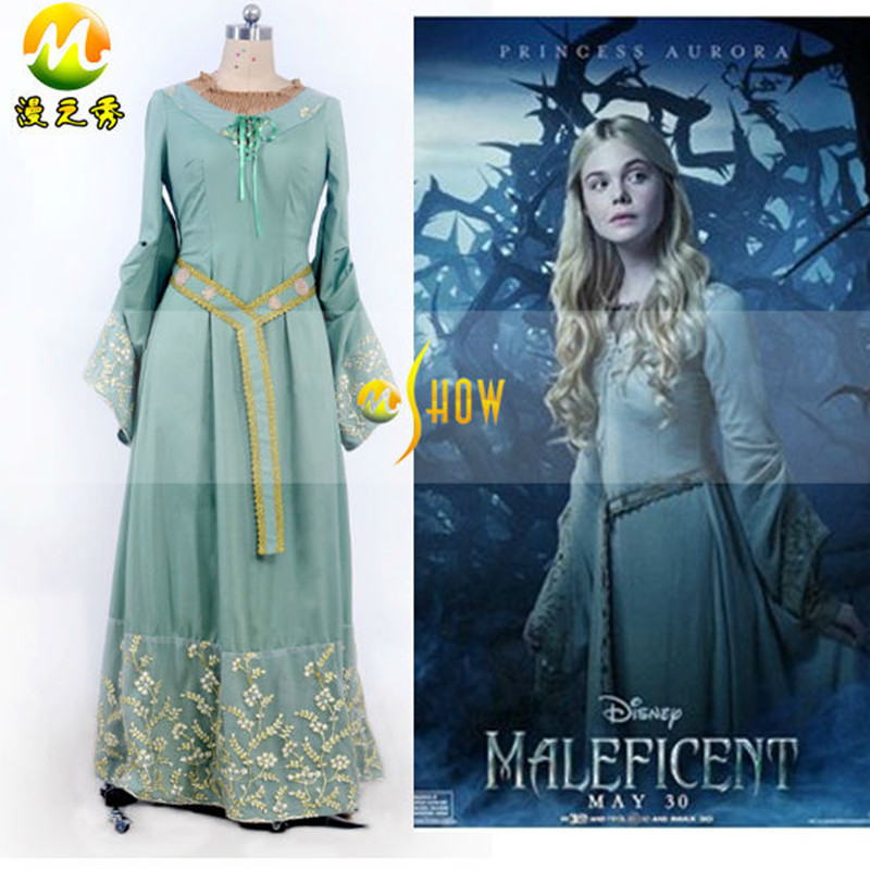 Movie Maleficent Princess Aurora Cosplay Dress The ...