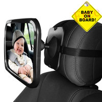 Adjustable Wide Rear View Car Mirror Auto Spiegel Baby Child Seat Car Safety Mirror Monitor Headrest Automobile Interior Styling|Interior Mirrors|Automobiles & Motorcycles -