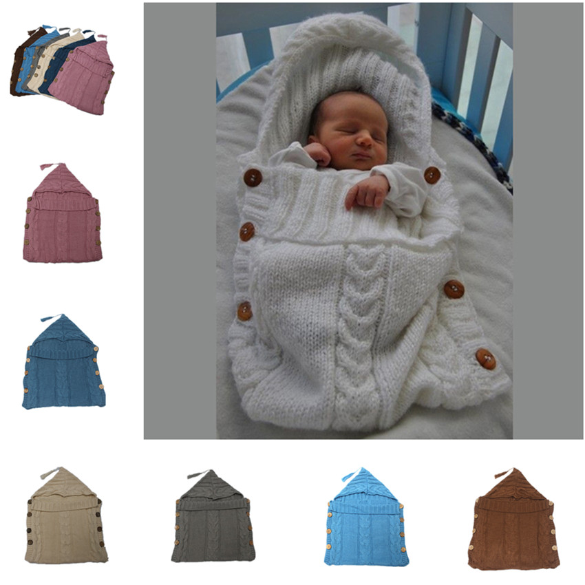 Autumn/winter 2017 infants knitting yarn bag hot style button photography props Cart sleeping bags Boys and girls package sleepi