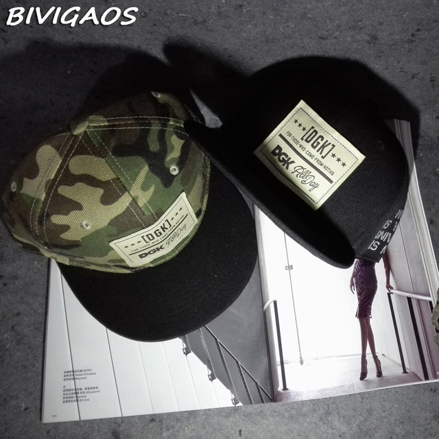 2016 New Fashion Mens DGK Patch Camouflage Hip Hop Cap Casual Baseball Caps Bones  Gorras Snapbacks Hats Sombrero For Men Women 0d5ae3cca54