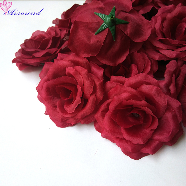 8cm 10cm burgundy rose flower for wedding decor artificial silk 8cm 10cm burgundy rose flower for wedding decor artificial silk flower heads as event party mightylinksfo