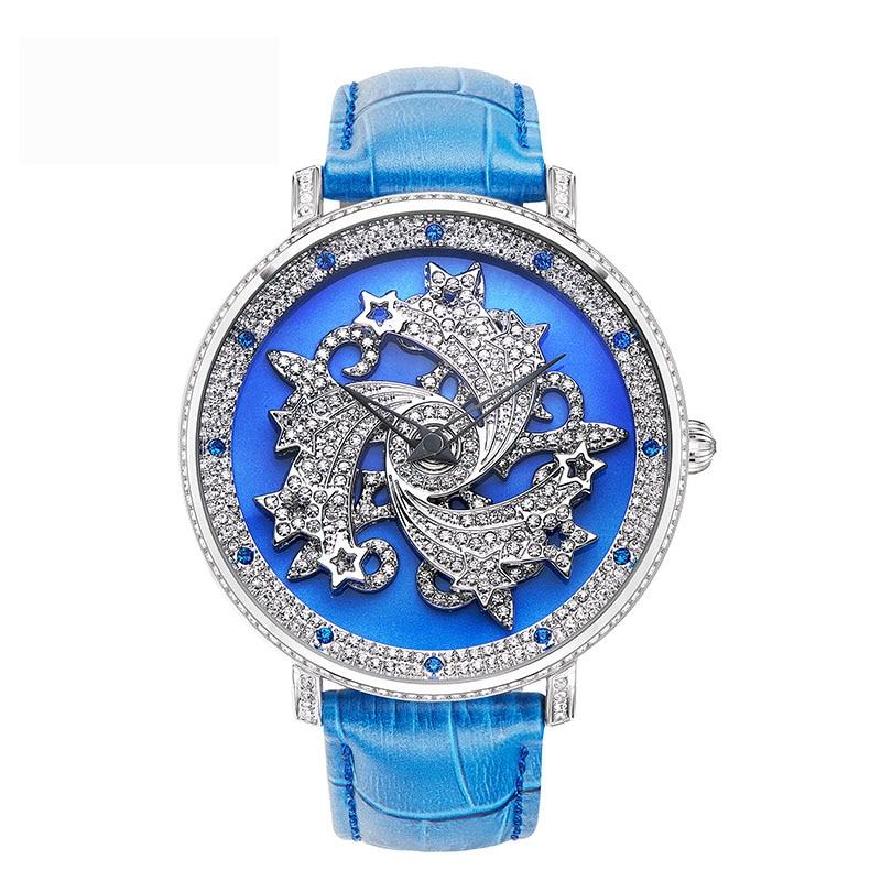 New Large Dial Women Quartz Watches Ladies Rotating Watch Top Brand Luxury Waterproof Watches Female Belt Bracelet Watch Dress цена 2017