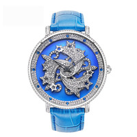 New Large Dial Women Quartz Watches Ladies Rotating Watch Top Brand Luxury Waterproof Watches Female Belt Bracelet Watch Dress