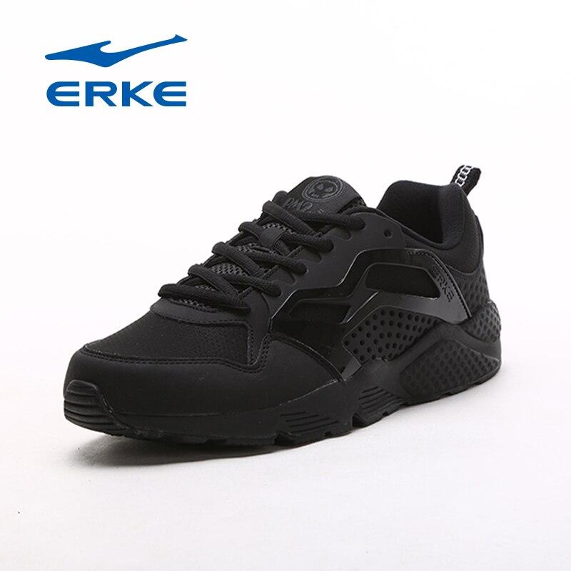 Ерке Горячие кроссовки обувь прогулочная обувь для мужчин Спорт на открытом воздухе туфли для бега трусцой 2017 кроссовки черные туфли ...