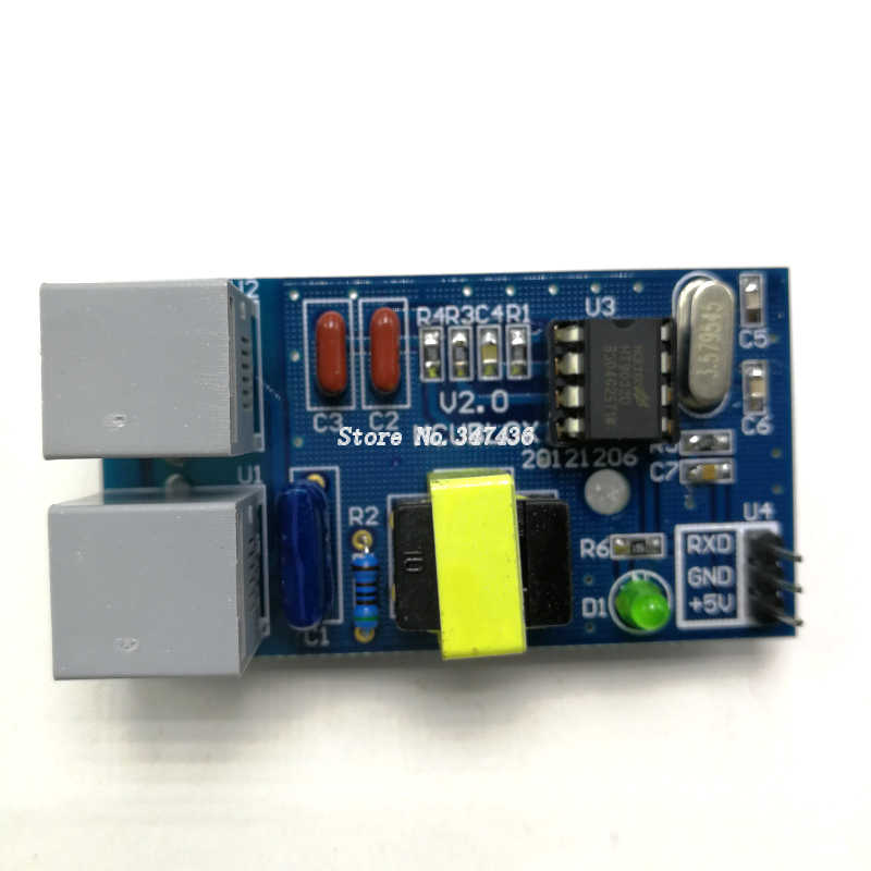 HT9032D development board FSK standard caller ID decoding learning board