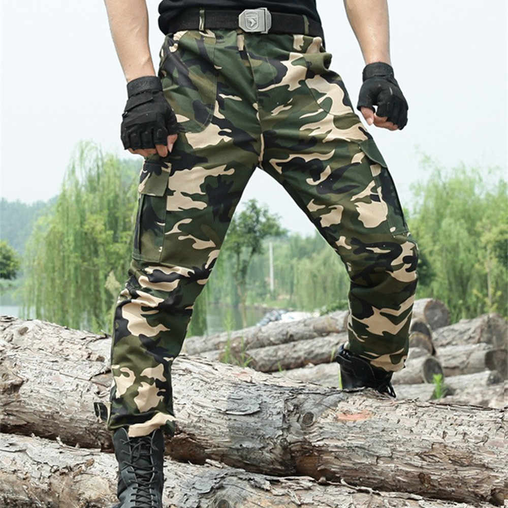 5b96cd9c6f66b ... Cargo Pants Men Overalls Military Style Work Pants Tactical Trousers  Army Men Workwear Airsoft Paintball Camouflage ...