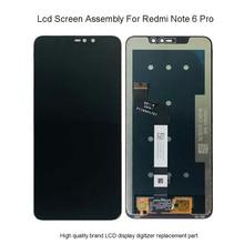 """6,26 """"ЖК-дисплей для Xiaomi Redmi Note 6 Pro ЖК-дисплей с сенсорным экраном дигитайзер сборка для Redmi Note 6 Pro lcd"""