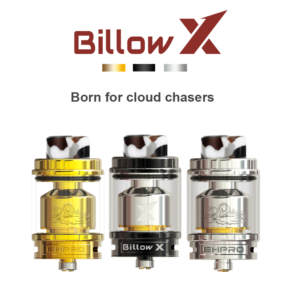 Originale Ehpro billow X RTA Atomizzatore Serbatoio 4 ml 5.5 ml di resina 810 punta a goccia bottom-up del flusso d'aria E -sigaretta Ricostruibile Serbatoio dripka RTA