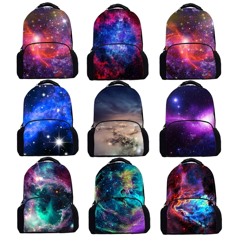 17 Inch Colorful Galaxy Backpack Boys Girls School Bags Star Sky,universe,Planet Backpacks Bag Man Women Shining Daily Bagpack