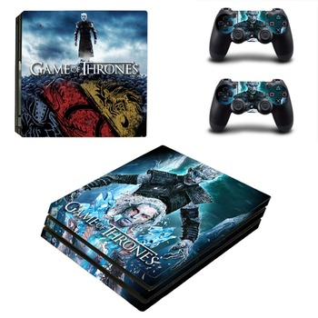 Game of Thrones PS4 Pro Skin Sticker Decal Vinyl for Playstation 4 Console and 2 Controllers PS4 Pro Skin Sticker