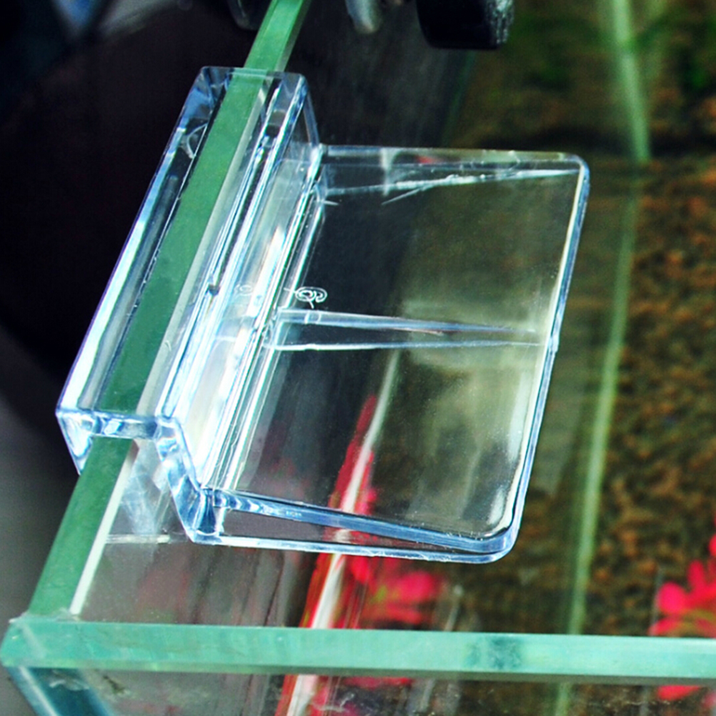 Fish tank glass for sale - Hot Sale 4pcs Clear Aquarium Fish Tank Plastic Clips Glass Cover Support Holders Wholesale 6