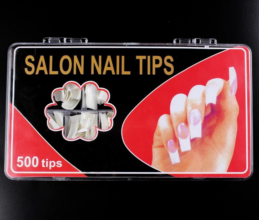 Hot Sell Professional 500pcs Nature False Nails Long Ballerina Half ...
