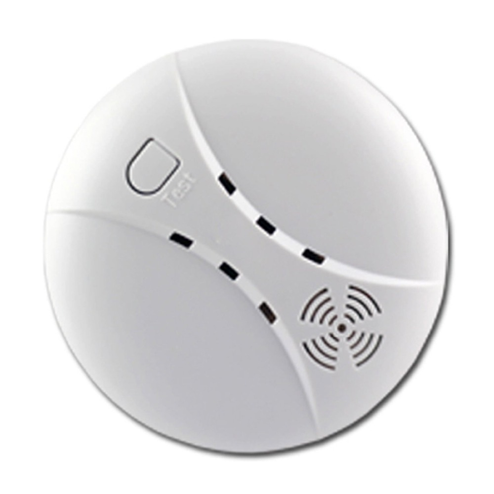 wireless smoke fire detector for wireless for touch keypad panel wifi gsm home security burglar. Black Bedroom Furniture Sets. Home Design Ideas