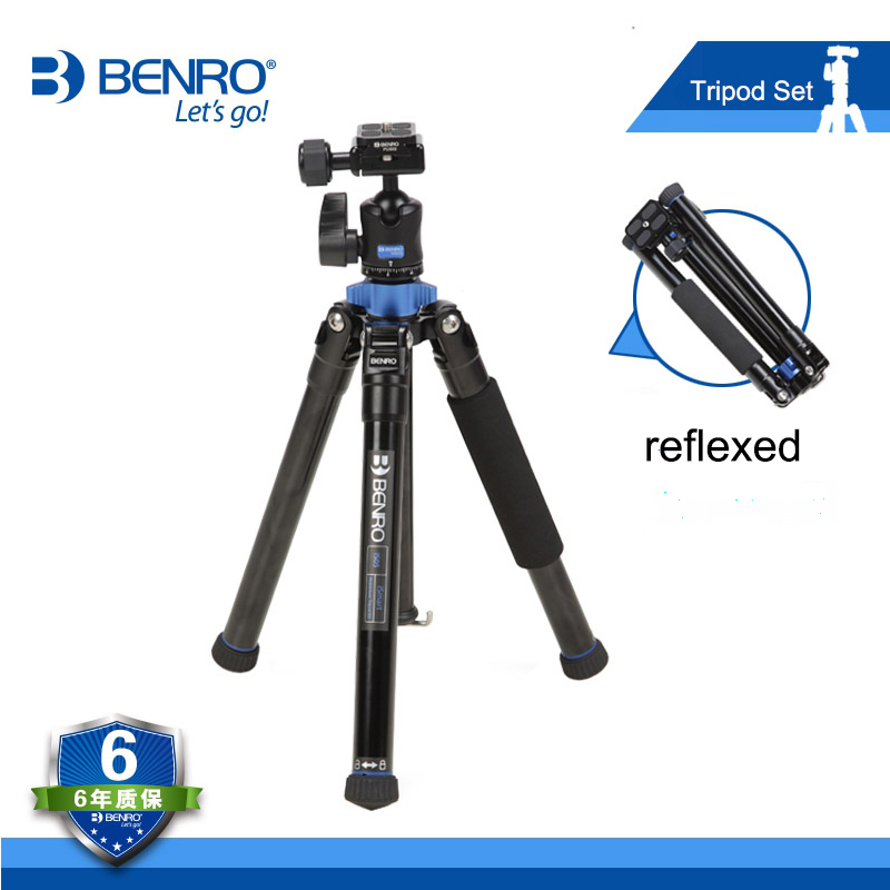 Benro IS05 Reflexum Tripod Kit For Mobile Phone Mini Digital Camera Magnesium Alloy Tripod Portable Travel Tripod Selfie Stick benro aluminum tripod 3 8 super strong impact resistance horizontal axis camera tripod multifunctional alloy tripod ga169t