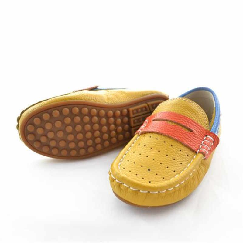 חדש אביב/סתיו קיץ נעלי ילדי נעלי תינוק עור אמיתי מזדמן לנשימה בני בנות נעלי ילדים פעוט 02B