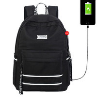 2019 Hot Sale Waterproof Backpack Women School Bags for Girls Large Capacity USB Charge Men 16 Laptop Backpack travel bag