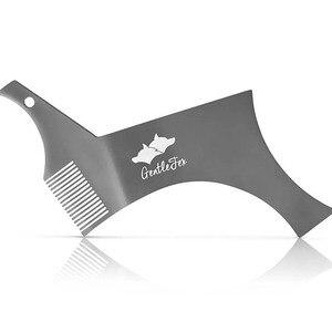 Image 2 - כל ב אחד נירוסטה בירד עיצוב וסטיילינג מסרק תבנית כלי 100% פרימיום באיכות סטנסיל עבור גברים של זקן גילוח