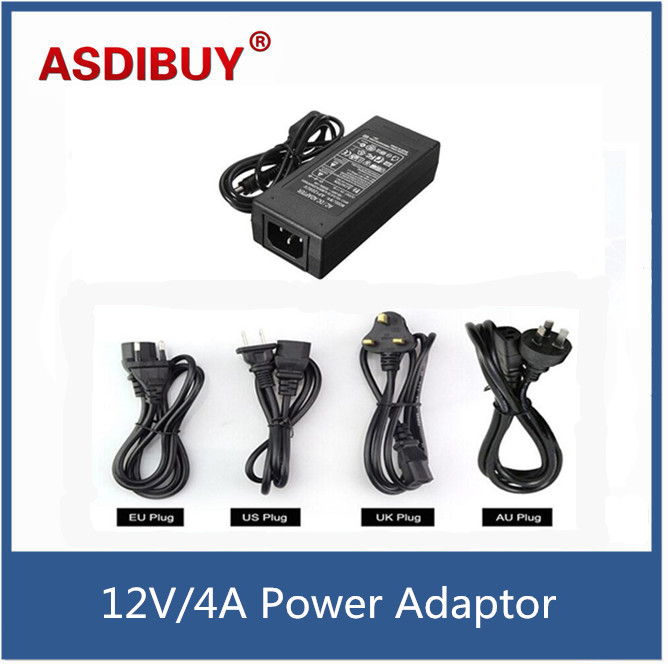 Universal 12V 4A AC110-240V to DC Power Adapter Converter Supply Charger Transformer with LED Indicator light for CCTV system 3a dc 12v ac 100v 240v converter adapter power supply transformer for cctv camera for led strip light