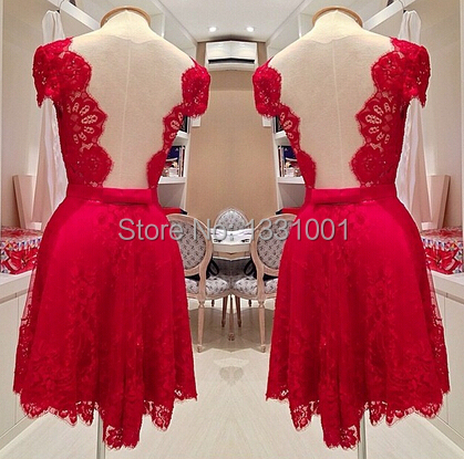 Vestido De Renda Curto Festa Vermelho Short Party Dress 2016 New Arrival Sexy Women Cocktail Dresses Form China Online Store