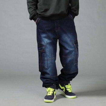 02969f77f54 Product Offer. Для мужчин свободные джинсы хип-хоп Большой Размер ...