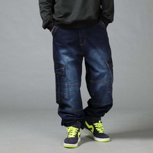 Mens Loose Jeans Hiphop Plus Size 44 46 Mens Long Trousers Spring Autumn Tide Man Colthing Baggy Pants 4 Seasons Hip Hop