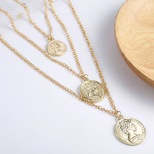 Vintage Coin Necklace For Women Fashion Gold Color Medallion Necklace Multiple Layers Pendant Long Necklaces Boho Jewelry Gift цена 2017