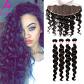 Malaysian Loose Wave 13x4 Lace Frontal Closure With Bundles 7A Unprocessed Virgin Hair With Closure 5Pcs/Lot Cara Hair Products