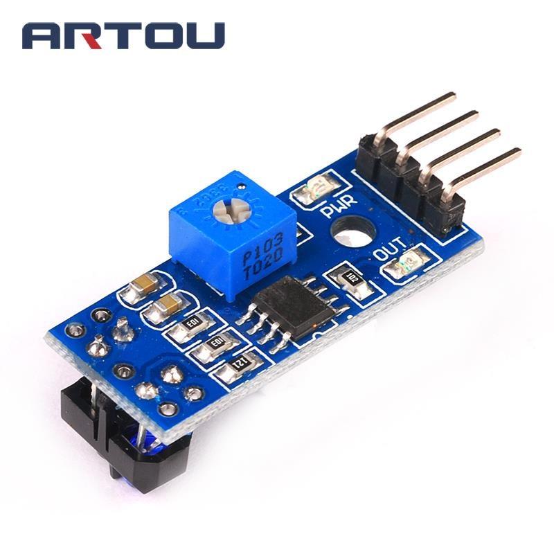 10PCS TCRT5000 Infrarot Reflektierende IR Lichtschranke Barrier Linie Track Sensor Modul blau