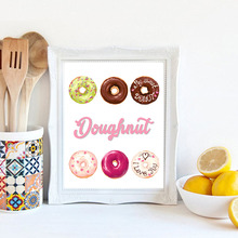 Colorful Delicious Ice Cream, Cakes Canvas Painting Posters