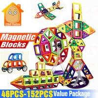 Minitudou New 40 48PCS Magnetic Blocks Building Constructor Designer Kids DIY Educational Toys Games For Children