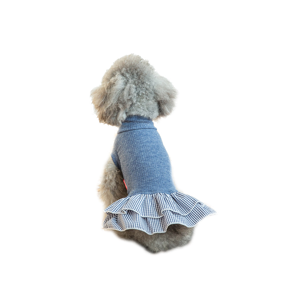 Hipidog-Pet-Apparel-Dog-Cat-Clothes-Solid-Knitwear-Shirt-Plaid-Skirt-Dresses-Dog-Princess-Costume-Clothing (3)1