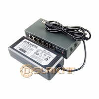 DSLRKIT 250M 5 Ports 4 PoE Switch Injector Power Over Ethernet 52V 75W Max 90W 52V
