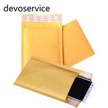 5pcs Paper Bags 11cm*13cm Bubble Mailers Padded Envelopes Small Size Kraft Paper Air Bubble Envelope 15*18cm Bag Yellow Color