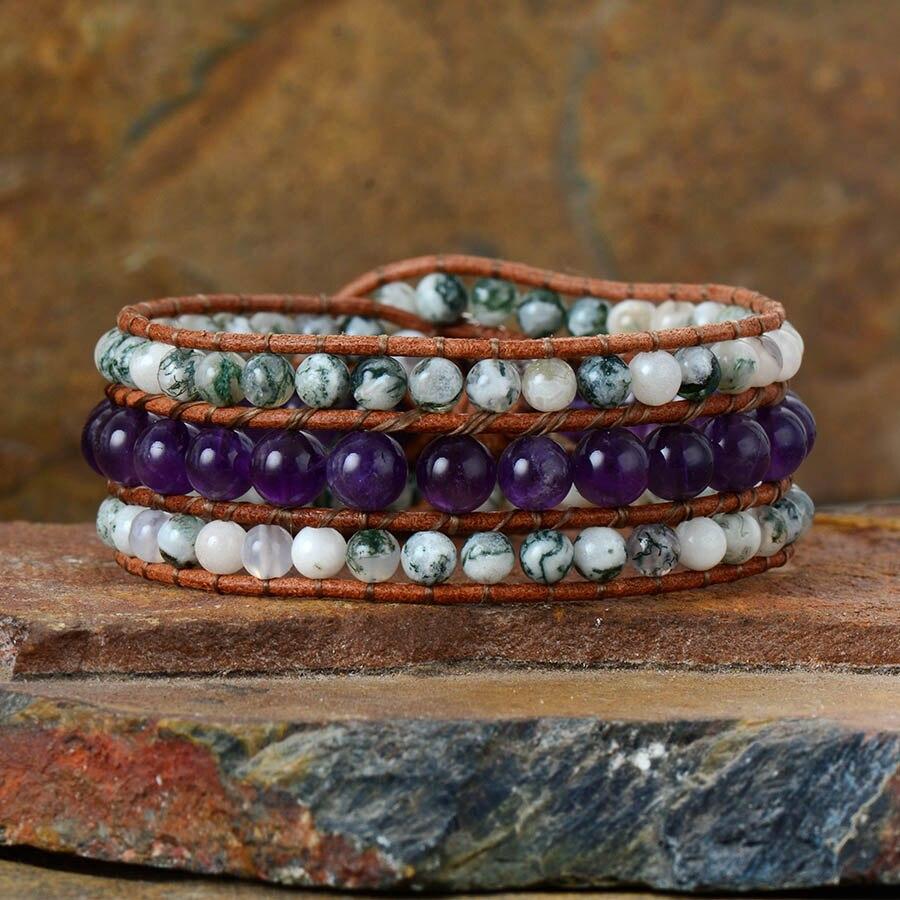 Leather Wrap Bracelet Gypsy...