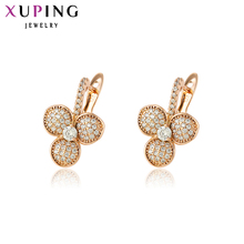 11.11 Deals Xuping Fashion Earrings Top Sale High Quality European Style Charm Design Gold Color Plated Costume Jewelry 90012