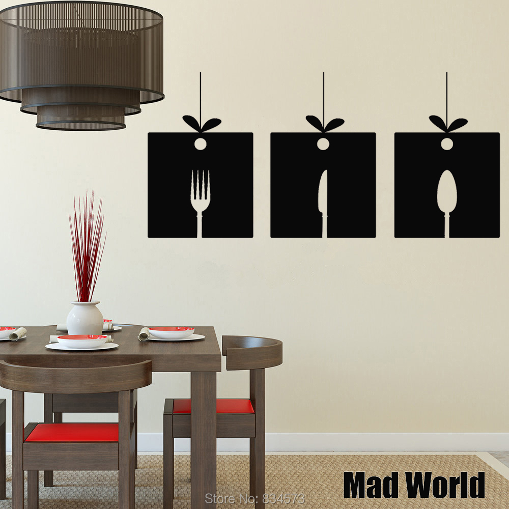 Online Get Cheap Wall Decor Kitchen Spoon Aliexpresscom - Wall stickers for dining roomdining room wall decals wall decal knife spoon fork wall decal