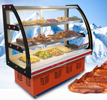 Food Fresh-Keeping Cabinet Commercial Horizontal Type Cooked Cold Dishes Showcase With Three Layer xb-002