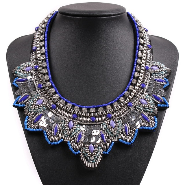 2017 New Design Trendy Fashion Statement Necklaces u0026 Pendants Costume Chunky Choker Women Bib Collar Necklace  sc 1 st  AliExpress.com : costume statement necklaces  - Germanpascual.Com
