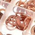 ZENHOSIT 280 шт Твердые медные простые шайбы  уплотнительное плоское кольцо  12 размеров  M5-M20 для винтовых болтов  крепежные детали  аксессуары  ко...