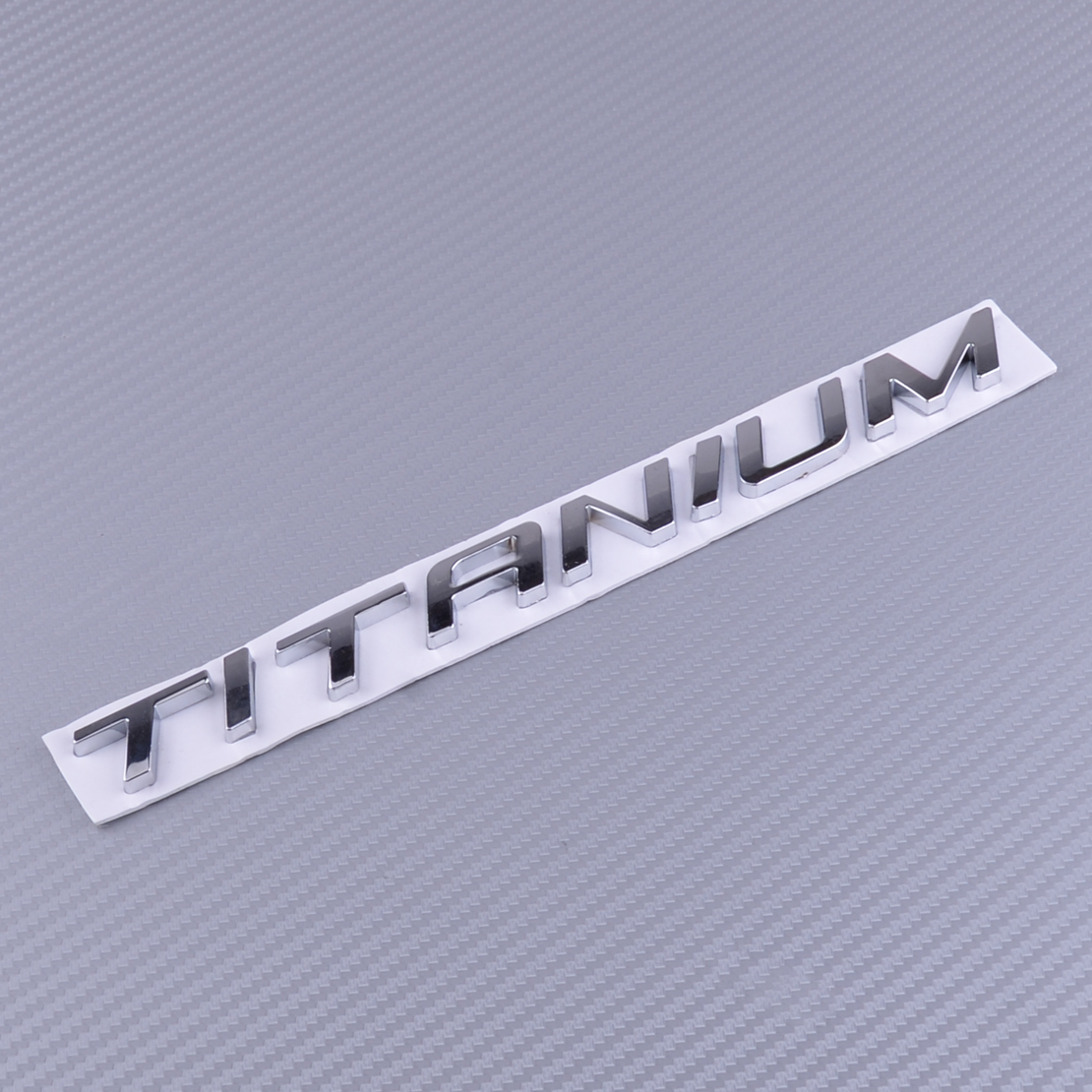 beler Chrome Badge Emblem Sticker TITANIUM