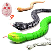 Novelty Infrared Remote Control Snake Funny Egg Super Simulation Prank Toys Radio Control Toys