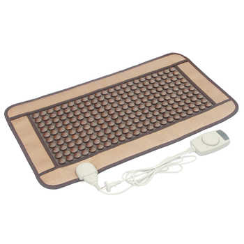 220PCS POP RELAX tourmaline stone heating magnetic therapy flat mat Mattres Germanium/tourmaline stone physiotherapy pad 45x80cm - Category 🛒 Beauty & Health