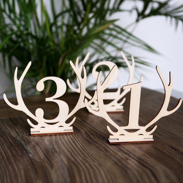 Charmant Wooden Antler Table Numbers,Boho Wedding Standing Numbers, Reception  Centerpieces Sticks, Rustic Wedding